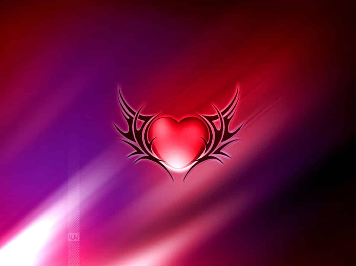 Best Love Wallpaper Dow : corazon con alas - Imagenes de Amor