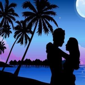 Imágenes de amor en la playa