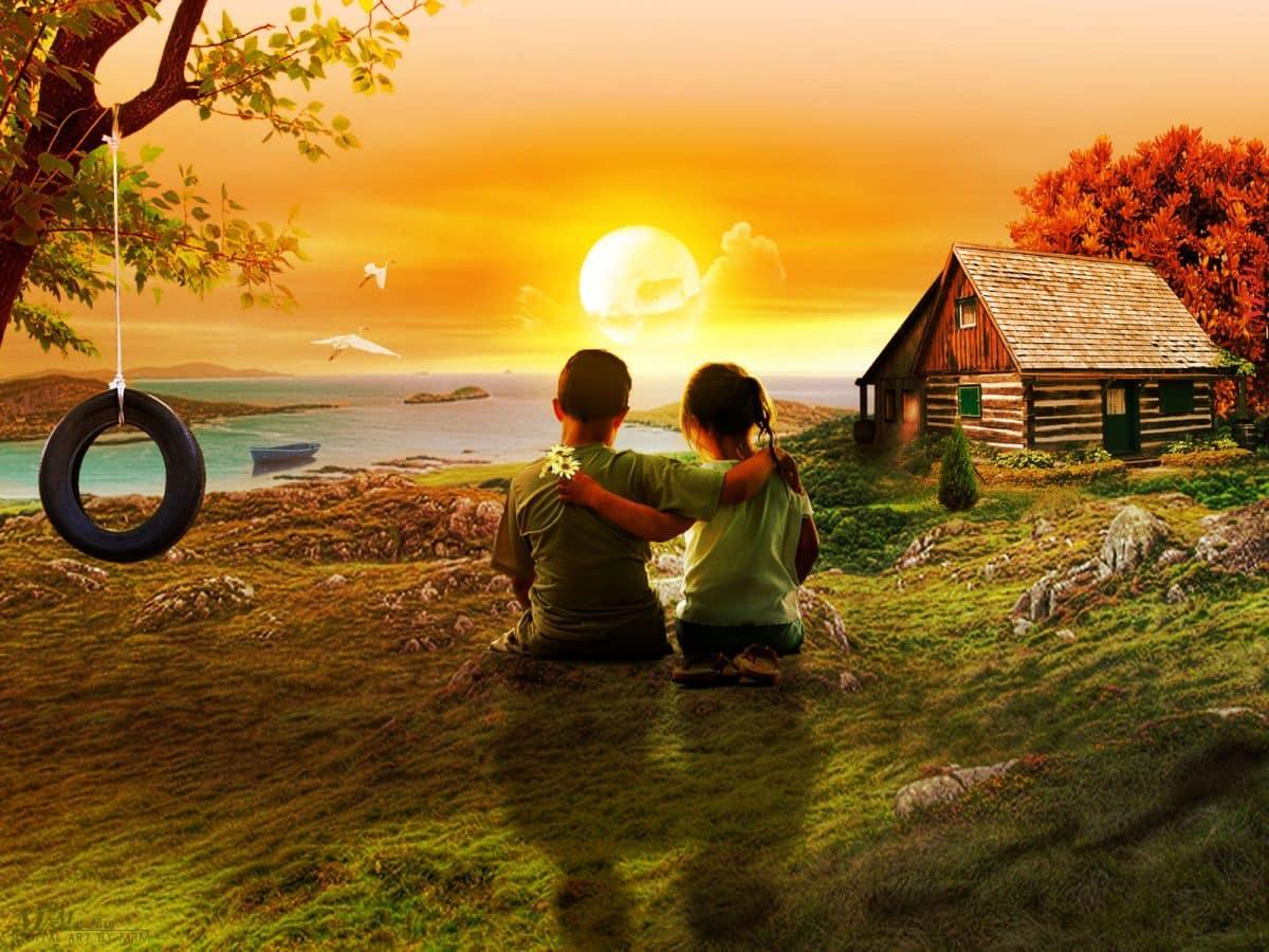 imagenes de amor una bella amistad infantil