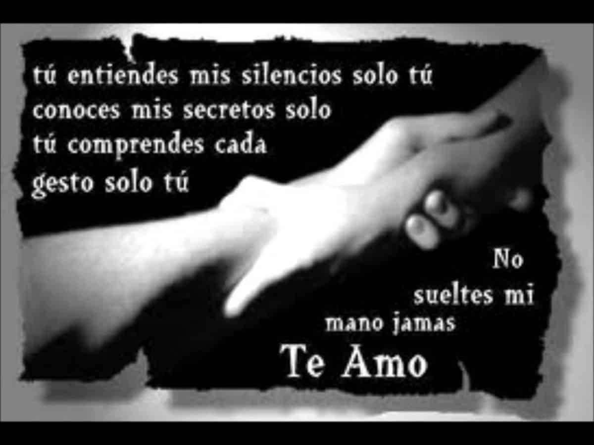 Imágen de amor con frase tu entiendes mis silencios solo tu conoces mis secretos