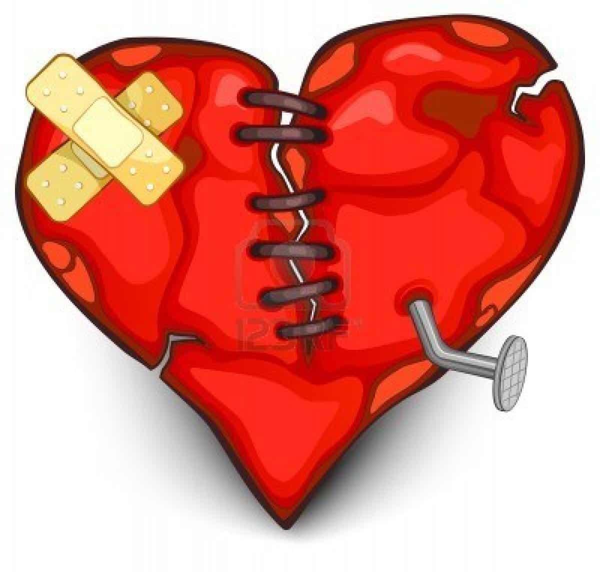 Imágen de amor despechado de un corazón maltratado
