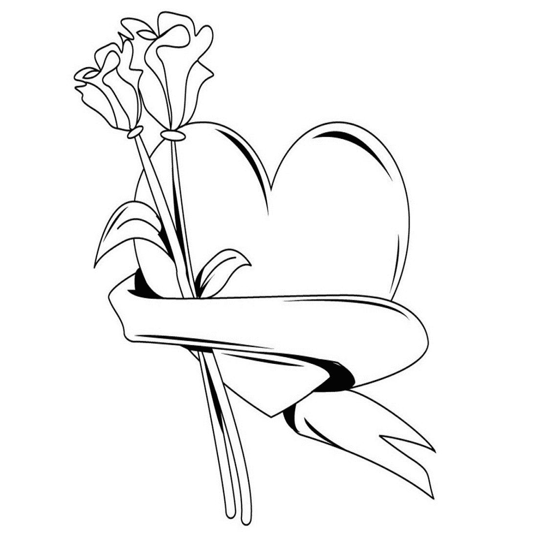 imágenes de amor juvenil dibujo de corazón y rosas
